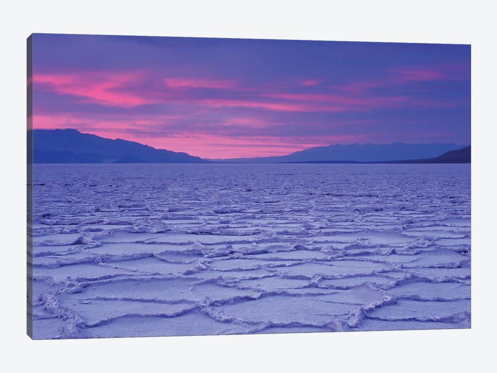 USA, California, Death Valley National Park. Salt flats at sunset. by Jaynes Gallery 1-piece Canvas Art Print