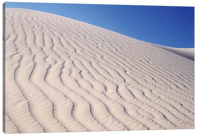 USA, California, Death Valley National Park. Sand dune patterns at Eureka Sand Dunes. Canvas Art Print