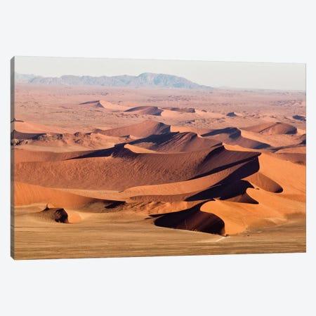 Namibia, Namib-Naukluft Park. Aerial of desert landscape.  Canvas Print #JYG64} by Jaynes Gallery Art Print