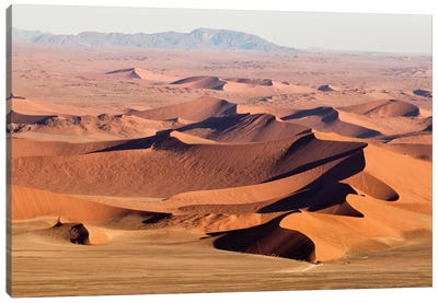 Namibia, Namib-Naukluft Park. Aerial of desert landscape.  Canvas Art Print