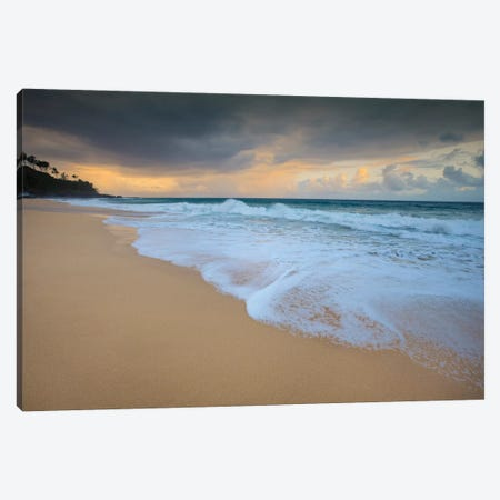USA, Hawaii, Kauai. Cloudy morning at Secret Beach. Canvas Print #JYG660} by Jaynes Gallery Art Print