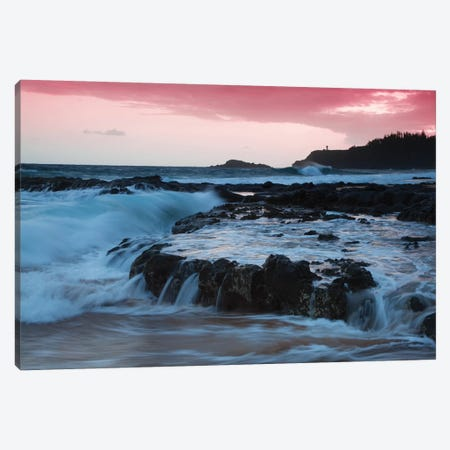 USA, Hawaii, Kauai. Cloudy morning at Secret Beach. Canvas Print #JYG661} by Jaynes Gallery Canvas Print