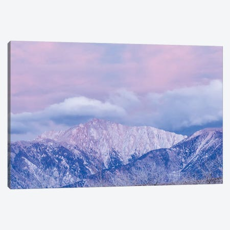 USA, Nevada, White Mountains. Sunset on Boundary Peak. Canvas Print #JYG720} by Jaynes Gallery Canvas Wall Art