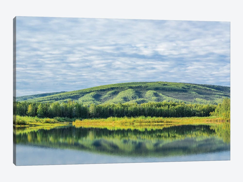 USA, Alaska, Olnes Pond. Landscape with pond reflection. by Jaynes Gallery 1-piece Canvas Print