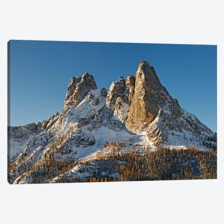 USA, Washington State. Liberty Bell Mountain in winter sunrise. Canvas Print #JYG785} by Jaynes Gallery Canvas Print