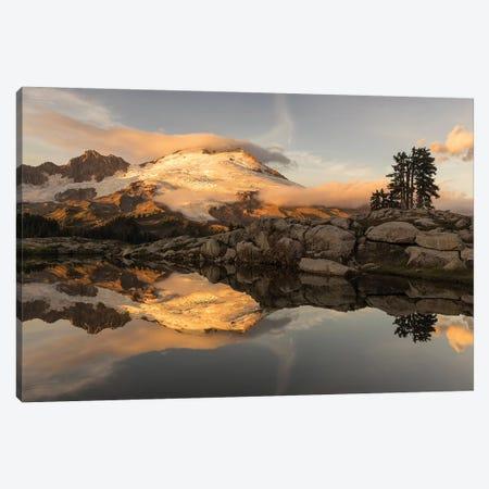 USA, Washington. Mt. Baker reflects in lake.  Canvas Print #JYG790} by Jaynes Gallery Canvas Art Print