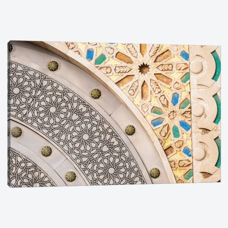 Africa, Morocco, Casablanca. Close-Up Of Designs On Mosque Exterior. Canvas Print #JYG808} by Jaynes Gallery Canvas Print