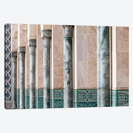 Africa, Morocco, Casablanca. Close-Up Of Mosque Exterior. 3-Piece Canvas #JYG809} by Jaynes Gallery Canvas Print