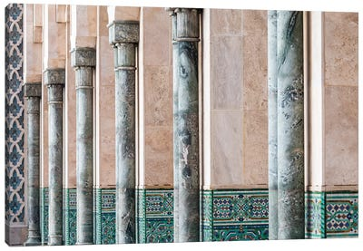 Africa, Morocco, Casablanca. Close-Up Of Mosque Exterior. Canvas Art Print