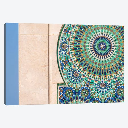 Africa, Morocco, Casablanca. Close-Up Of Tile Designs On Mosque Exterior. Canvas Print #JYG810} by Jaynes Gallery Canvas Art