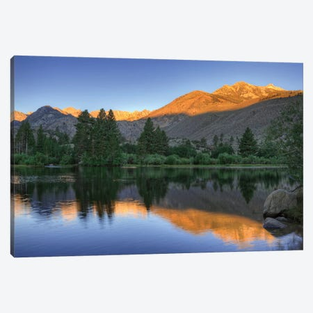 USA, California, Bishop. Sunrise on mountain lake. Canvas Print #JYG84} by Jaynes Gallery Canvas Art Print