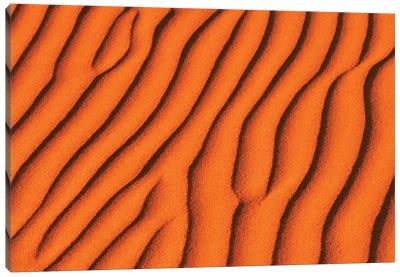 USA, California, Death Valley National Park. Sand pattern detail. Canvas Art Print