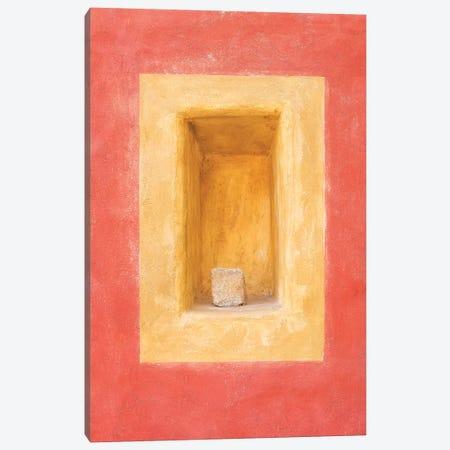 Czech Republic, Cesky Krumlov. Colorful Wall Indented Space. Canvas Print #JYG892} by Jaynes Gallery Canvas Artwork