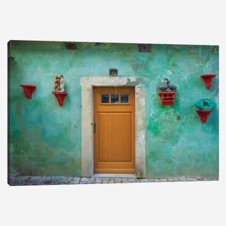 Czech Republic, Cesky Krumlov. House Exterior. Canvas Print #JYG893} by Jaynes Gallery Canvas Wall Art