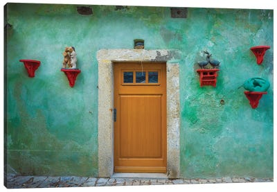 Czech Republic, Cesky Krumlov. House Exterior. Canvas Art Print