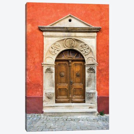Czech Republic, Cesky Krumlov. Ornate Doors And Arch. Canvas Print #JYG894} by Jaynes Gallery Art Print