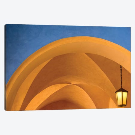 Czech Republic, Prague. Building Arches And Lamp. Canvas Print #JYG896} by Jaynes Gallery Canvas Print