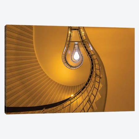 Czech Republic, Prague. Stairwell In The House Of The Black Madonna. Canvas Print #JYG898} by Jaynes Gallery Canvas Art