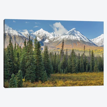 Canada, Yukon Territory, Kluane National Park. Landscape with St. Elias Range. Canvas Print #JYG8} by Jaynes Gallery Canvas Print