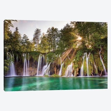 Europe, Croatia, Plitvice Lakes National Park. Waterfall Landscape. Canvas Print #JYG901} by Jaynes Gallery Canvas Art