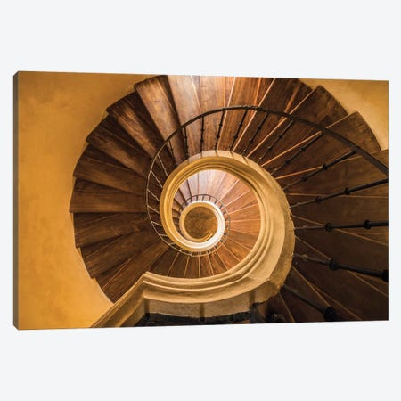 Europe, Czech Republic, Kutna Hora. Santini Circular Stairwell In Monastery Church Of Assumption Of Our Lady At Sedlec. Canvas Print #JYG903} by Jaynes Gallery Canvas Art