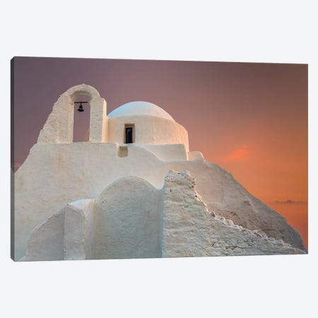 Europe, Greece, Mykonos. Church Of Panagia Paraportiani. 3-Piece Canvas #JYG917} by Jaynes Gallery Canvas Art