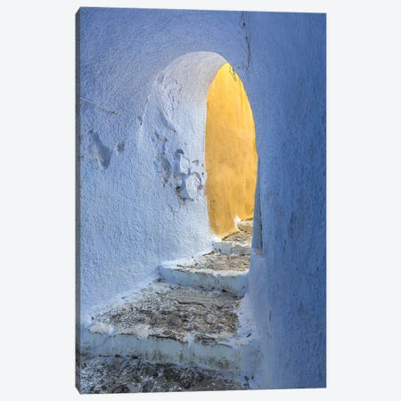Europe, Greece, Santorini, Pyrgos. Building Passageway. Canvas Print #JYG919} by Jaynes Gallery Canvas Art Print
