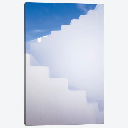 Europe, Greece, Santorini. Stairway And Shapes. Canvas Print #JYG922} by Jaynes Gallery Canvas Art