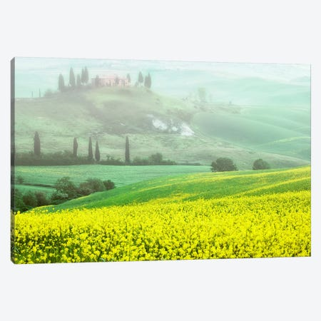 Europe, Italy, Tuscany. The Belvedere Villa Landmark And Farmland. Canvas Print #JYG931} by Jaynes Gallery Canvas Art Print