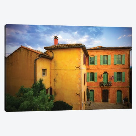 France, Roussillon. Painted House In Village. Canvas Print #JYG947} by Jaynes Gallery Canvas Art Print