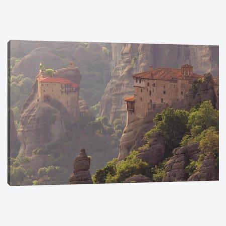 Greece, Meteora. Isolated Monasteries On Cliffs. Canvas Print #JYG948} by Jaynes Gallery Canvas Artwork
