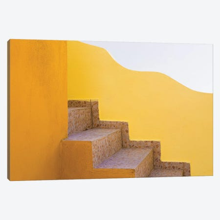Greece, Santorini. Stairs And Building Shapes. Canvas Print #JYG955} by Jaynes Gallery Canvas Wall Art