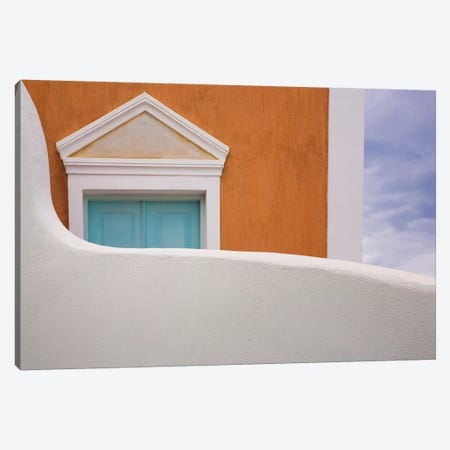 Greece, Thira. House Exterior. Canvas Print #JYG957} by Jaynes Gallery Canvas Artwork