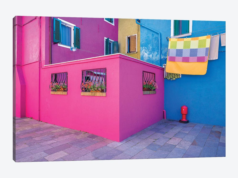 Italy, Burano. Colorful House Walls. by Jaynes Gallery 1-piece Art Print