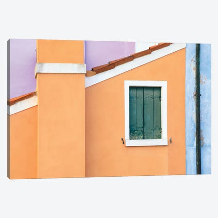 Italy, Burano. Pastel House Walls. Canvas Print #JYG966} by Jaynes Gallery Canvas Art Print