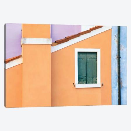 Italy, Burano. Pastel House Walls. Canvas Print #JYG966} by Jaynes Gallery Canvas Art Print