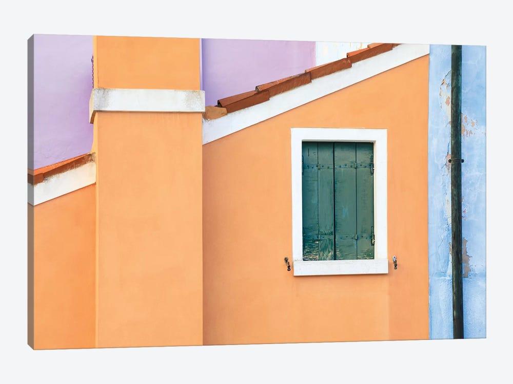 Italy, Burano. Pastel House Walls. by Jaynes Gallery 1-piece Canvas Artwork