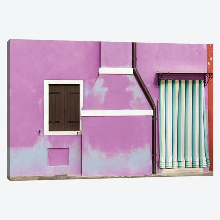 Italy, Burano. Weathered House Exterior. Canvas Print #JYG968} by Jaynes Gallery Canvas Artwork