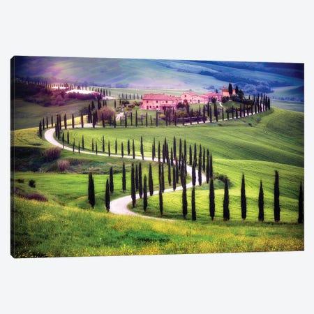 Italy, Tuscany, Val D'Orcia. Farm Landscape. Canvas Print #JYG980} by Jaynes Gallery Canvas Artwork