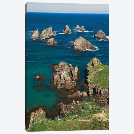 New Zealand, South Island. Ocean View From Nugget Point. Canvas Print #JYG992} by Jaynes Gallery Canvas Art Print