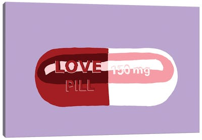 Love Pill Lavender Canvas Art Print