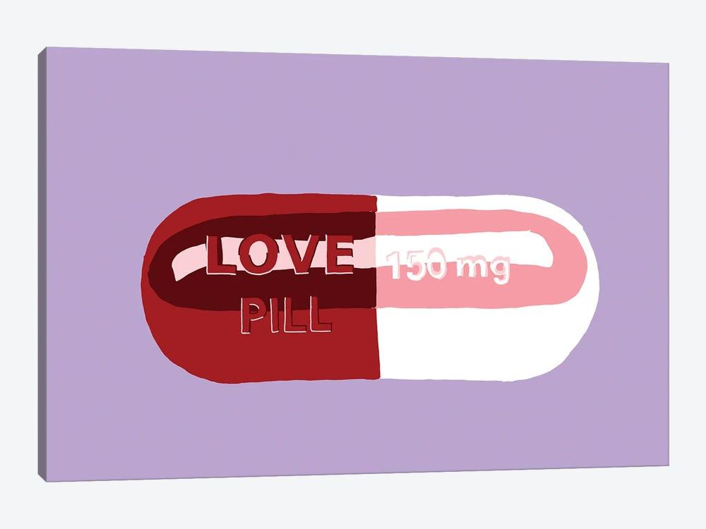 Love Pill Lavender by Jaymie Metz 1-piece Art Print
