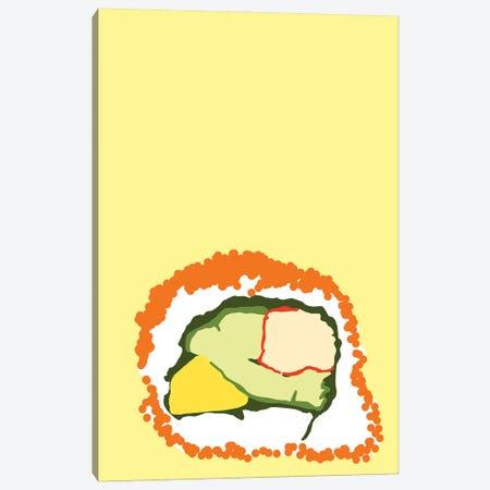 Orange Sushi Roll Canvas Print #JYM116} by Jaymie Metz Canvas Artwork