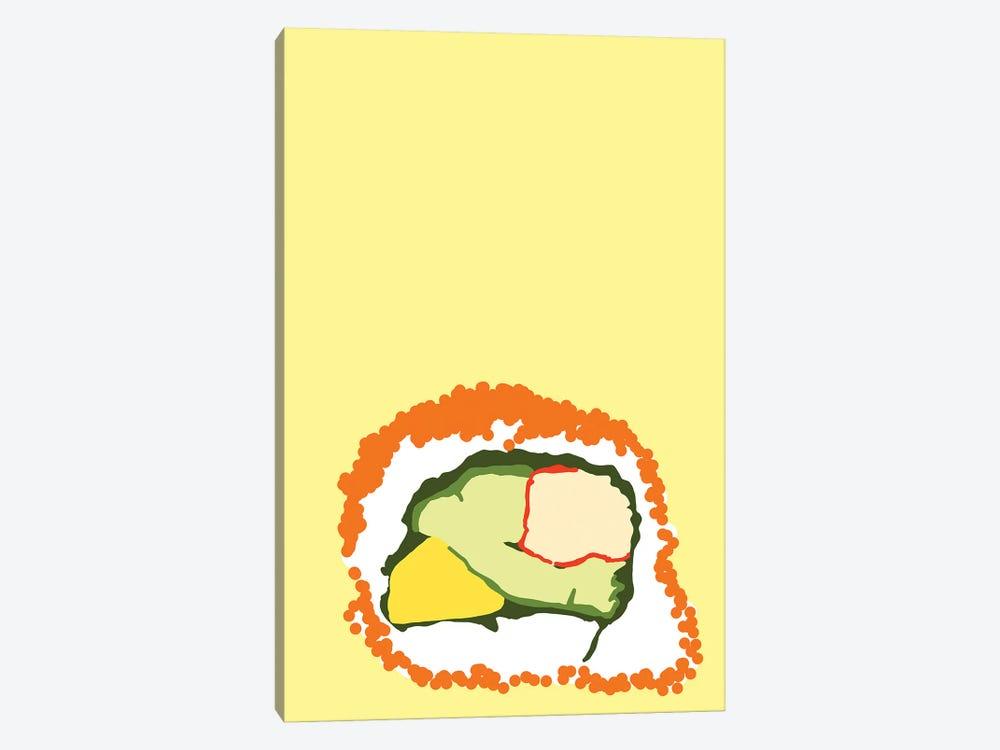 Orange Sushi Roll by Jaymie Metz 1-piece Art Print
