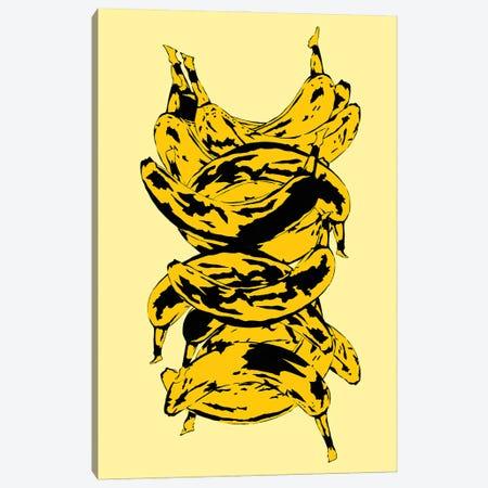 Band Of Bananas Yellow Canvas Print #JYM11} by Jaymie Metz Art Print