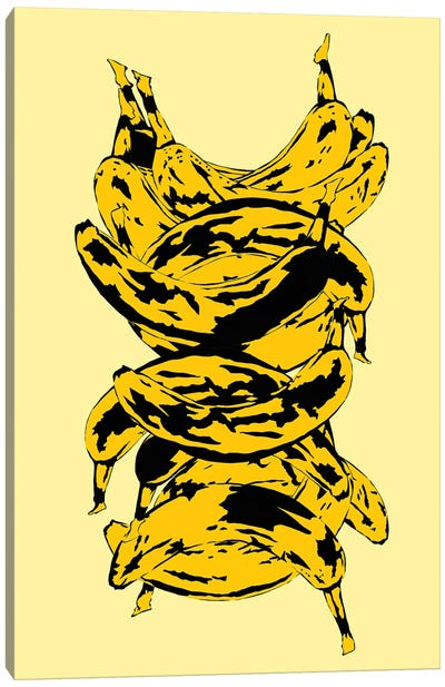 Band Of Bananas Yellow Canvas Art Print