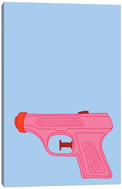 Pink Squirt Gun Canvas Art Print