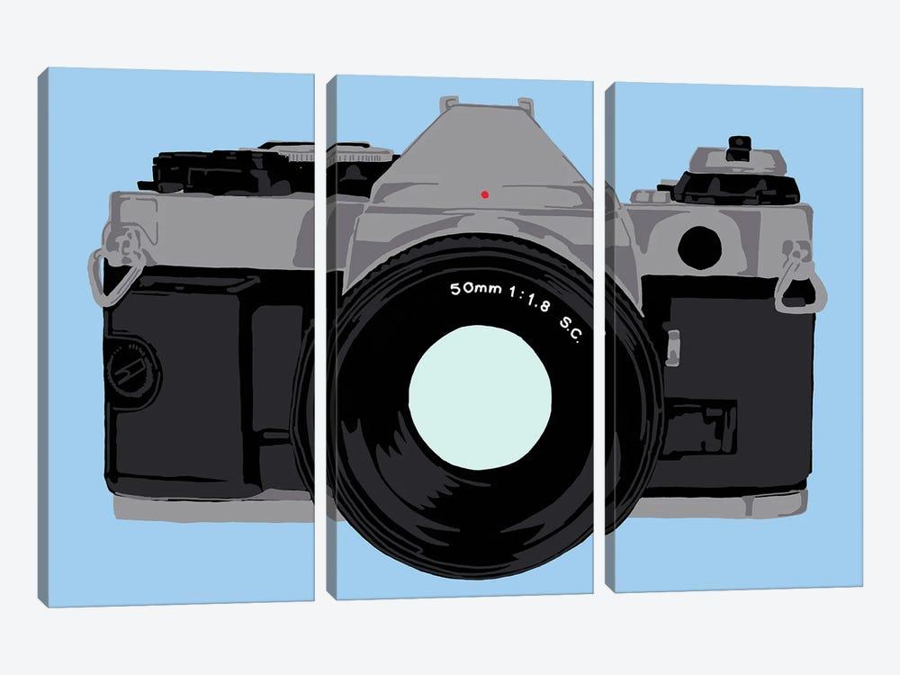 Single Lens Reflex Camera by Jaymie Metz 3-piece Canvas Print