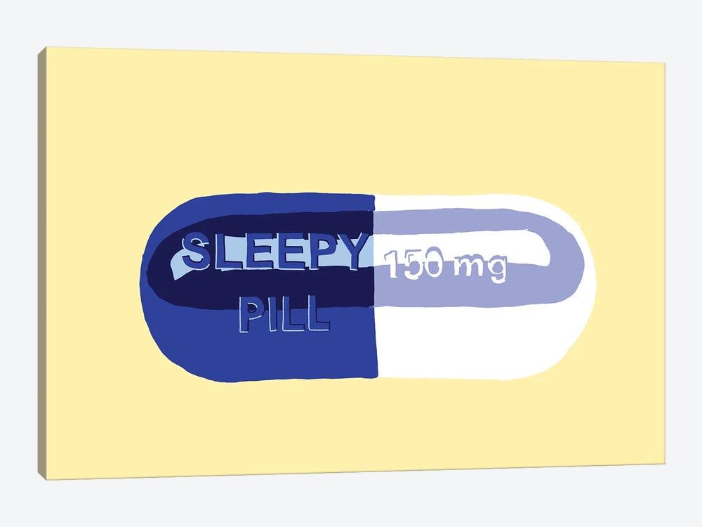 Sleepy Pill Yellow by Jaymie Metz 1-piece Canvas Art