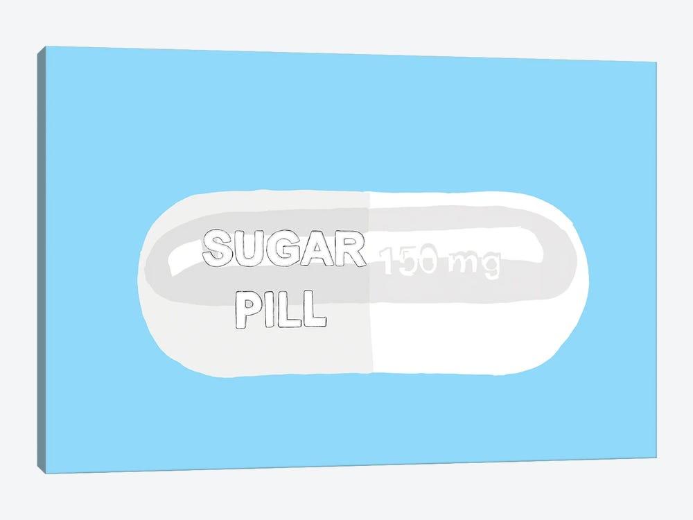 Sugar Pill Blue by Jaymie Metz 1-piece Art Print
